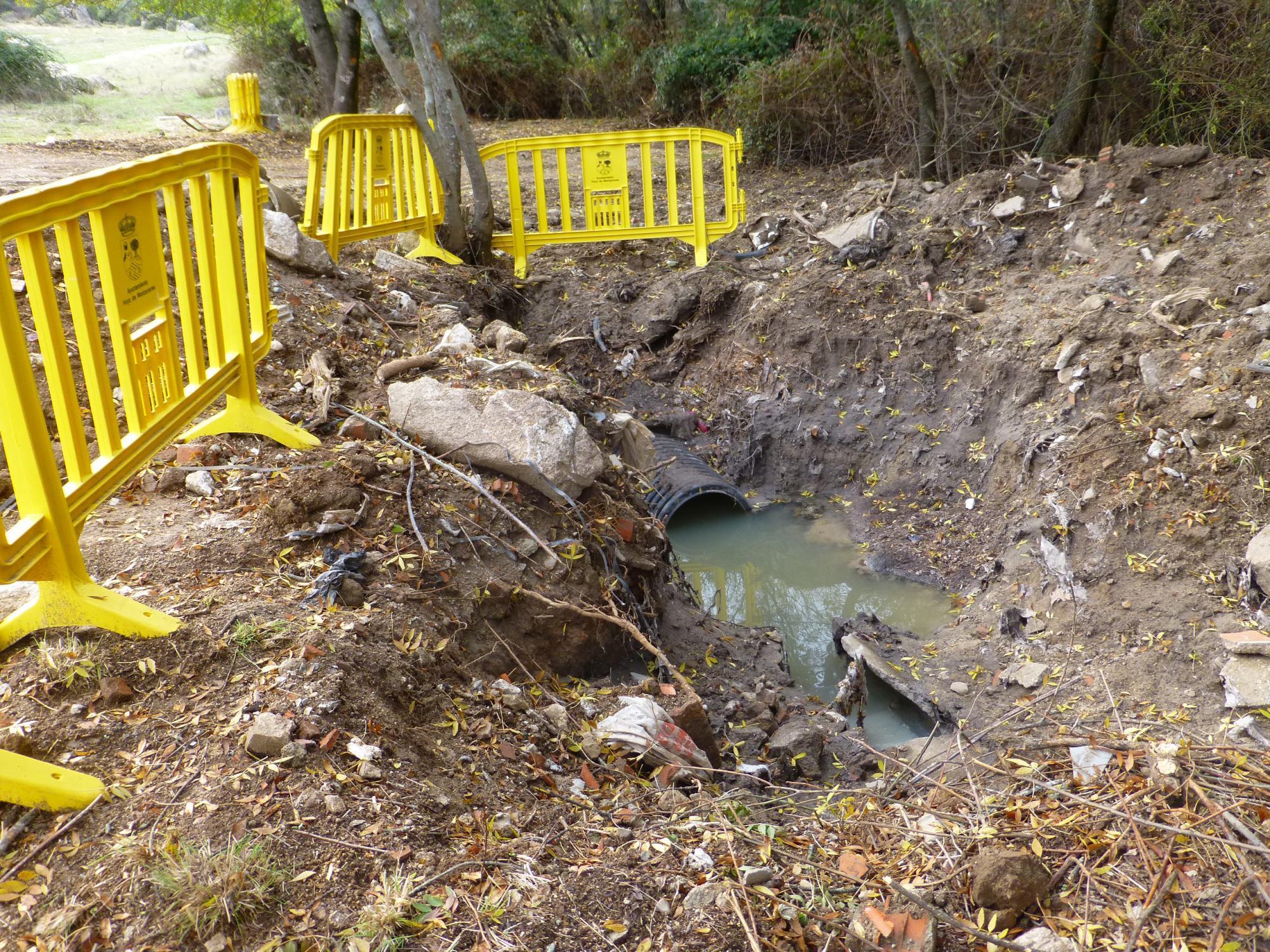Unidos por Hoyo denuncia la contaminación de aguas por obras municipales
