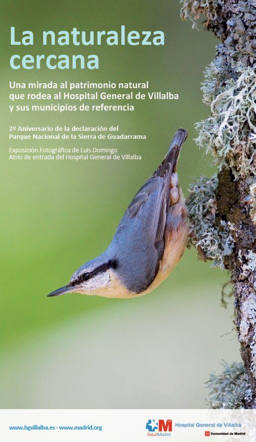 El Hospital General de Villalba acoge una exposición fotográfica centrada en la naturaleza de la Sierra de Guadarrama