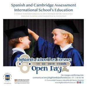 Jornada de Puertas Abiertas en el Colegio Highlands Los Fresnos de Boadilla