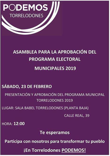 Podemos Torrelodones ya tiene candidatura para las municipales