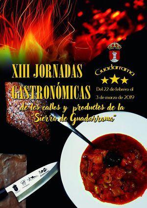El 22 de febrero arrancan las XIII Jornadas Gastronómicas de Guadarrama