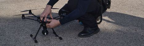 El dron de la Policía local, listo para ayudar en las tareas de seguridad
