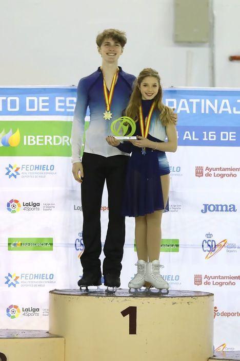 La patinadora de Torrelodones Sofía Val, en el Mundial junior de Patinaje
