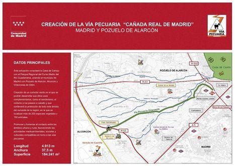 La Comunidad crea la vía pecuaria Cañada Real de Madrid