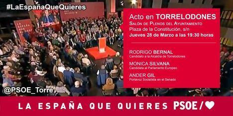 El portavoz socialista en el Senado, Ánder Gil, en Torrelodones