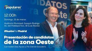 El PP madrileño presenta este domingo a sus candidatos en la zona Oeste