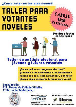 Un taller para que los nuevos votantes se preparen para las próximas citas electorales
