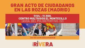 Ciudadanos convoca a un gran acto en Las Rozas este domingo