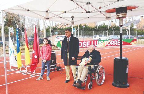 Un momento del homenaje que se hizo a José Luis Torres en diciembre de 2018 en Torrelodones