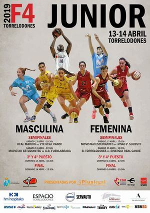 Doble Final Four Junior masculina y femenina de baloncesto en Torrelodones