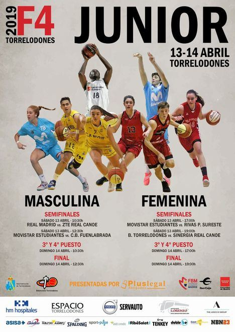 Doble Final Four Junior masculina y femenina de baloncesto en Torrelodones