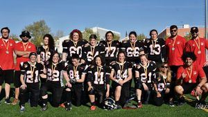 Las 'demonias', campeonas de la Liga Nacional de Football Americano 7x7