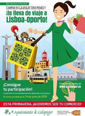 El comercio local rifa esta primavera un viaje a Portugal