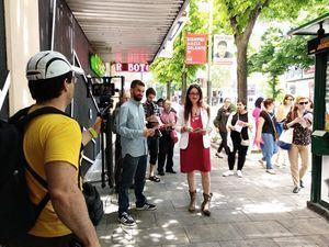 Sol Sánchez apoya a sus candidatos en Collado Villalba