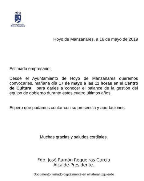 Denuncian a la Junta Electoral la convocatoria del alcalde para presentar un balance de gestión