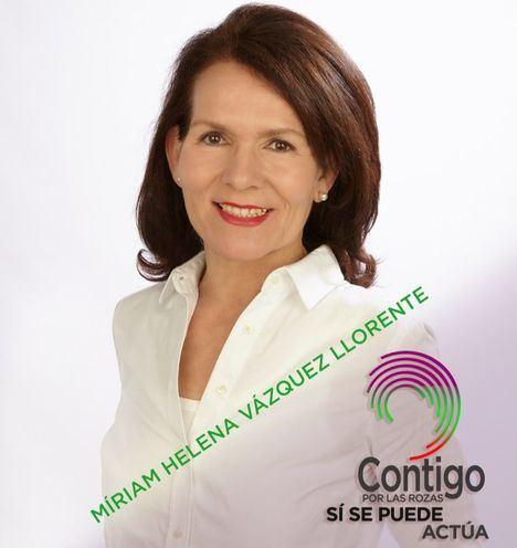 Miriam Helena Vázquez Llorente, candidata a la Alcaldía por la coalición Contigo por Las Rozas Sí se Puede Actúa
