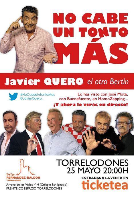 Javier Quero, el 'otro' Bertín, en el Teatro Fernandez Baldor el 25 de mayo