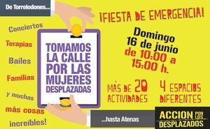 Fiesta de Emergencia en Torrelodones por las mujeres desplazadas