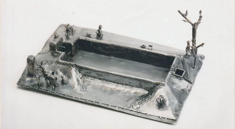 Recreación realizada por Enrique Mijallo del aspecto original de la Fuente del Caño