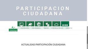 Nueva sección de Participación en la web municipal