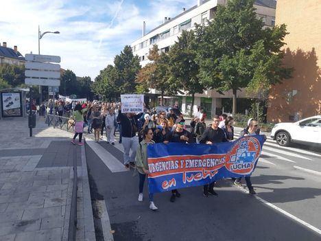 Manifestación al Hospital de Collado Villalba