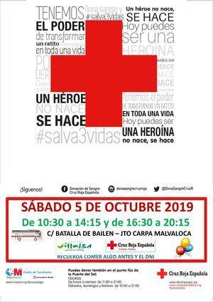 Maratón de donación de sangre de Cruz Roja este sábado