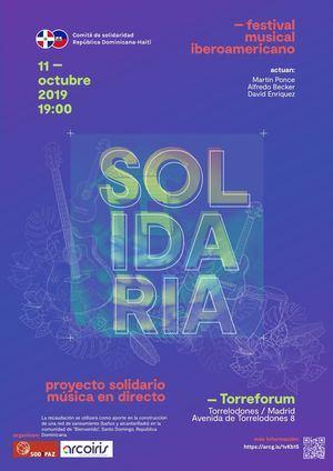 Festival solidario para la reconstrucción de República Dominicana y Haití