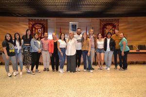 Visita de estudiantes norteamericanos al Ayuntamiento