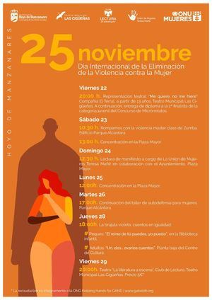Actividades contra la violencia de género en Hoyo