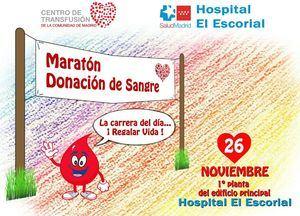 Maratón de donación de sangre en el Hospital El Escorial