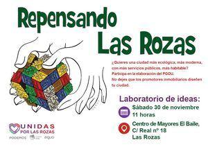 Unidas por Las Rozas invita a debatir sobre el nuevo PGOU