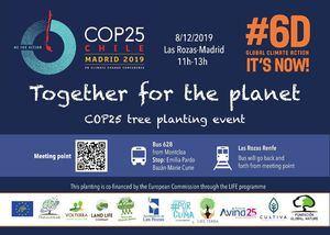 Las Rozas acoge a la COP25 para plantar 1.000 árboles
