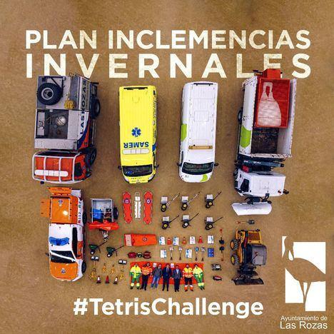 Un 'Tetris Challenge' para presentar el dispositivo de Inclemencias Invernales