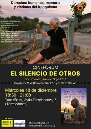 El Ateneo y Amnistía Internacional proyectan 'El Silencio de los Otros'