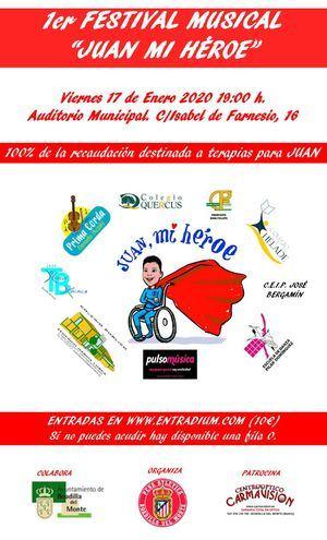 Festival solidario para ayudar a Juan, un menor afectado por CDG