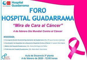 Jornada informativa en el Hospital Guadarrama por el Día Mundial Contra el Cáncer