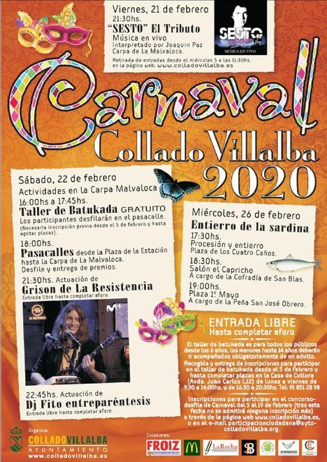 Abierto el plazo de inscripción para el desfile de Carnaval