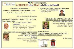 APDE Sierra de Guadarrama celebra sus X Jornadas sobre TDAH