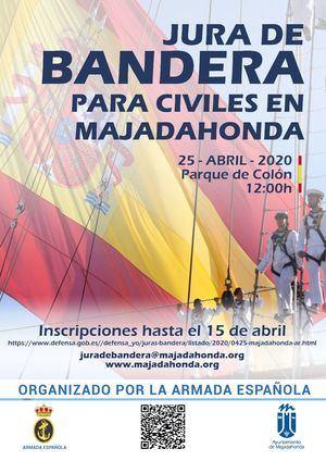 Jura de Bandera para civiles el 25 de abril
