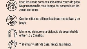 El Ayuntamiento advierte contra el uso de las zonas comunes de urbanizaciones
