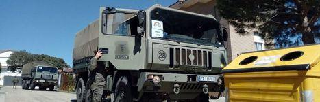 Unidades del Ejército colaboran en la desinfección en centros de mayores