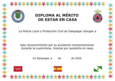 Galapagar concede un diploma a todos los niños por su buen comportamiento