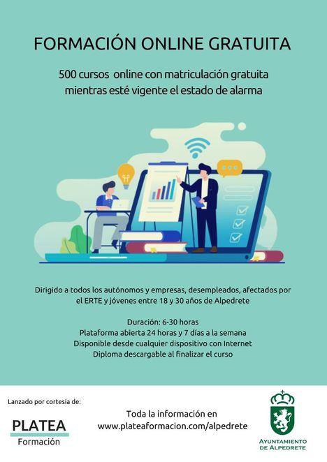 El Ayuntamiento de Alpedrete ofrece formación online gratuita a los vecinos
