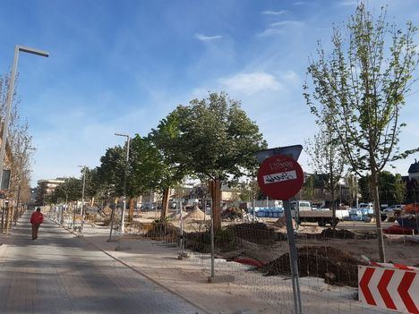 Denuncian el retraso en las obras de remodelación de la Plaza de los Belgas