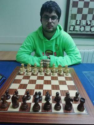 El villalbino Antonio Rupérez, en la final del Campeonato de Europa de Ajedrez