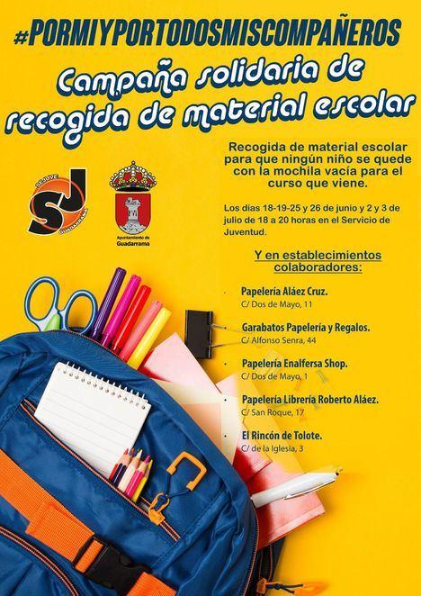 Recogida solidaria de material escolar en Guadarrama