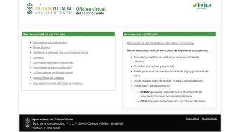 Ya está abierta la Oficina Virtual del Contribuyente de Collado Villalba