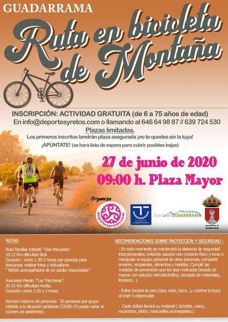 Guadarrama celebra su primera ruta de bicicleta de montaña