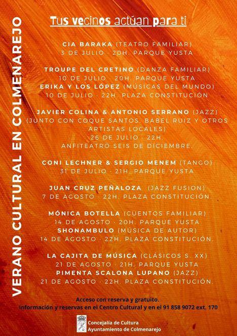 Colmenarejo presenta su Verano Cultural en colaboración con artistas locales