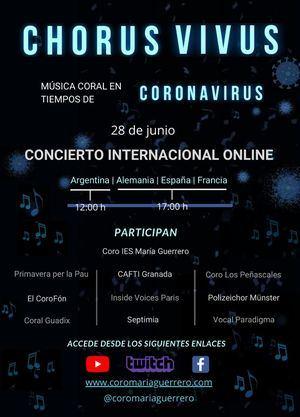 El Coro María Guerrero de Collado Villalba organiza el concierto on line Chorus Vivus